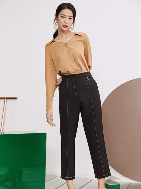 VINTAGE CARGO PANTS 3 COLORS ANKLE LENGTH HIGH WAISTED - impaviid