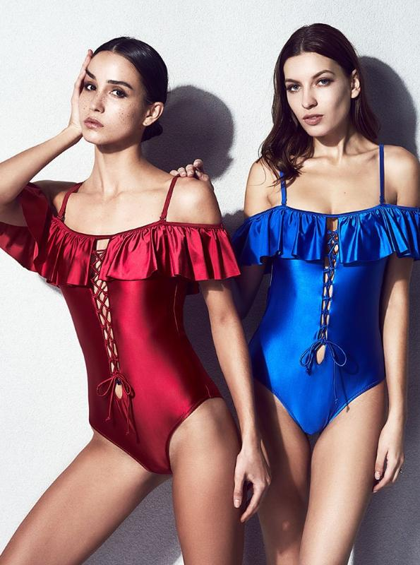 ONE PIECE RUFFLED SWIMSUIT - impaviid