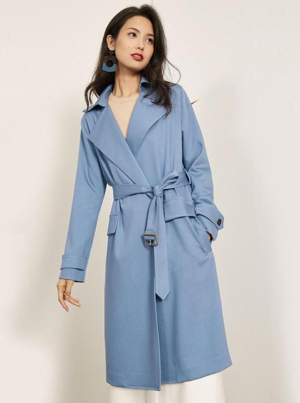 KNEE LONG TRENCH COAT 2 COLORS - impaviid