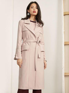 SOFT PINK SPRING TRENCH COAT - impaviid