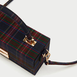 PLAID BOX HANDBAG CRUELTY-FREE - impaviid