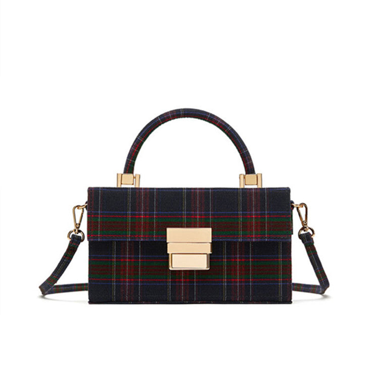 PLAID BOX HANDBAG CRUELTY-FREE - impisid