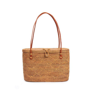 BOHEMIAN BUCKET STRAW BAG  -  IMPAVIID