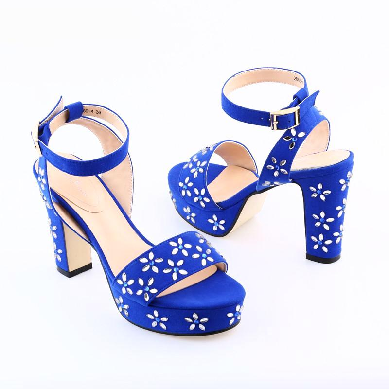 VELVET SANDALS ON SQUARE HEELS WITH CHARMS DECORATIONS CRUELTY-FREE - impissid