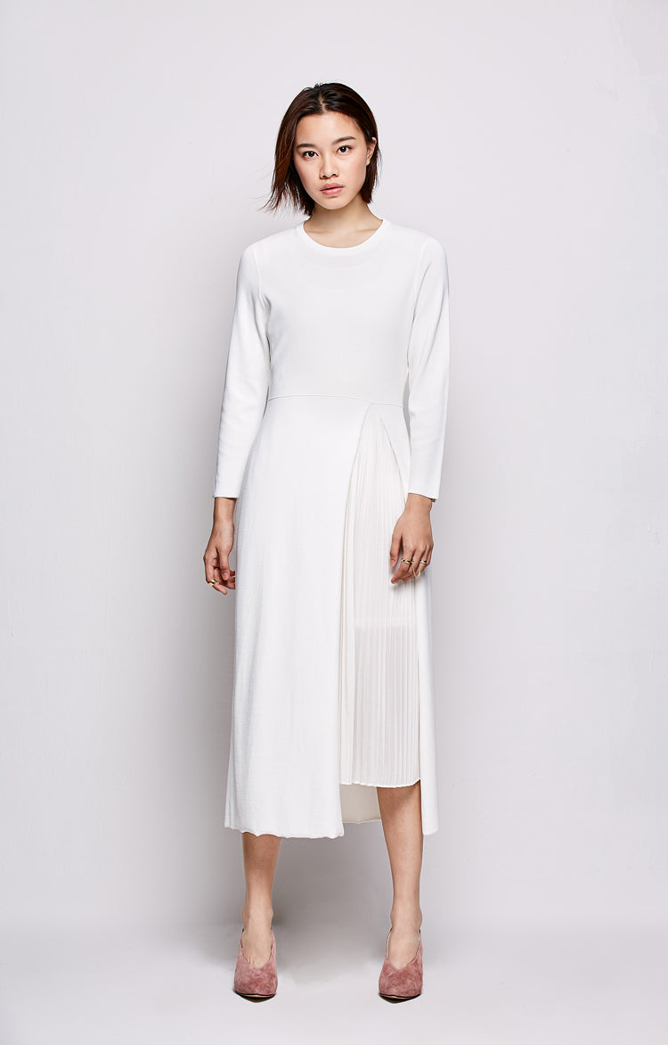 MINIMALIST DRESS MID-CALF 3 COLORS - impaviid