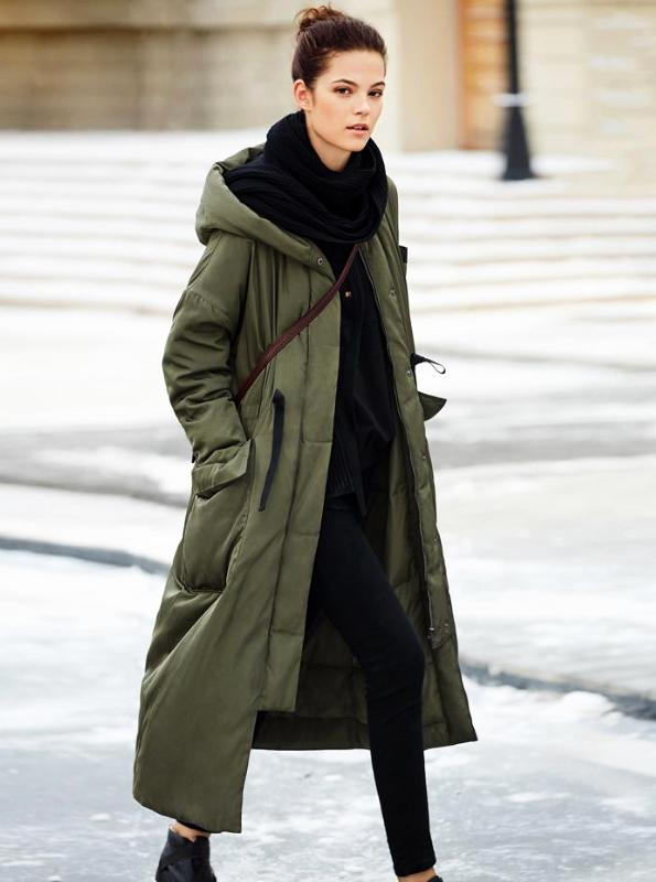 KOREAN STYLE OVERSIZED DUCK DOWN JACKET COAT