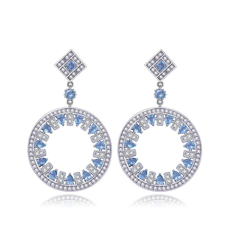 ZIRCON BIG ROUND EARRINGS - impaviid
