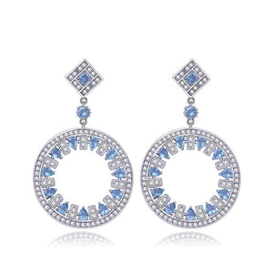 ZIRCON BIG ROUND EARRINGS - imparidni