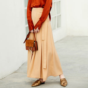 MINIMALISM MAXI SKIRT 2 COLORS - impaviid