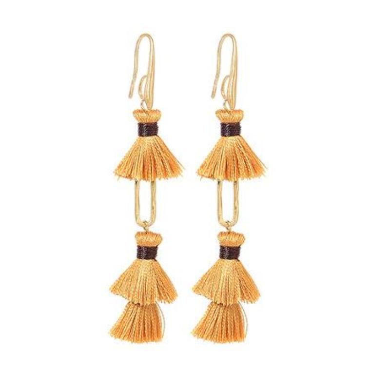 LAYERED TASSEL / FRINGE EARRINGS - impaviid