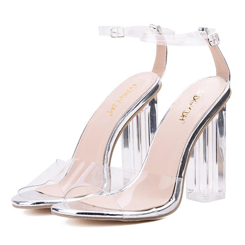PLASTIC OPEN TOE SANDALS CRUELTY-FREE - impaviid