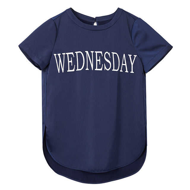 DAYS OF THE WEEK FAUX SATING T-SHIRT 7 OPTIONS - impaviid