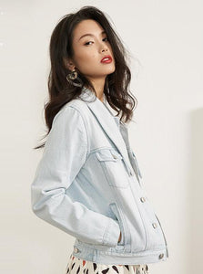 CASUAL LIGHTLY WASHED DENIM JACKET - IMPAVIID
