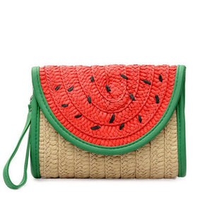WATERMELON STRAW CLUTCH - impovid