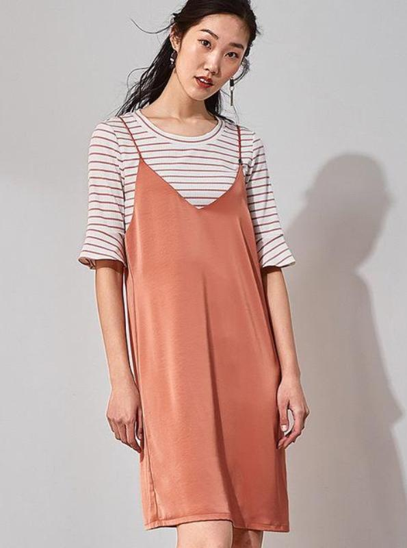 SLIP ON CASUAL DRESS MED STRIPPED SHIRT - impaviid