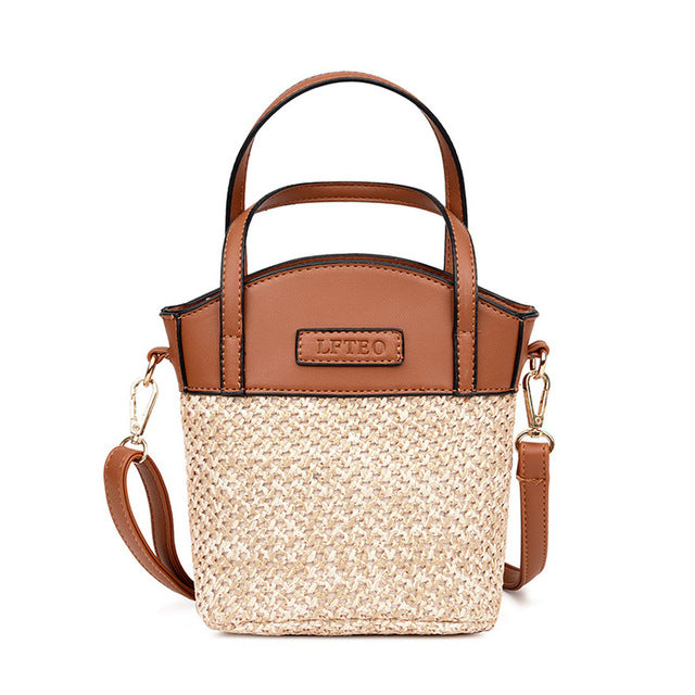 STRAW TOTE BAG 2 COLORS CRUELTY-FREE - impaviid