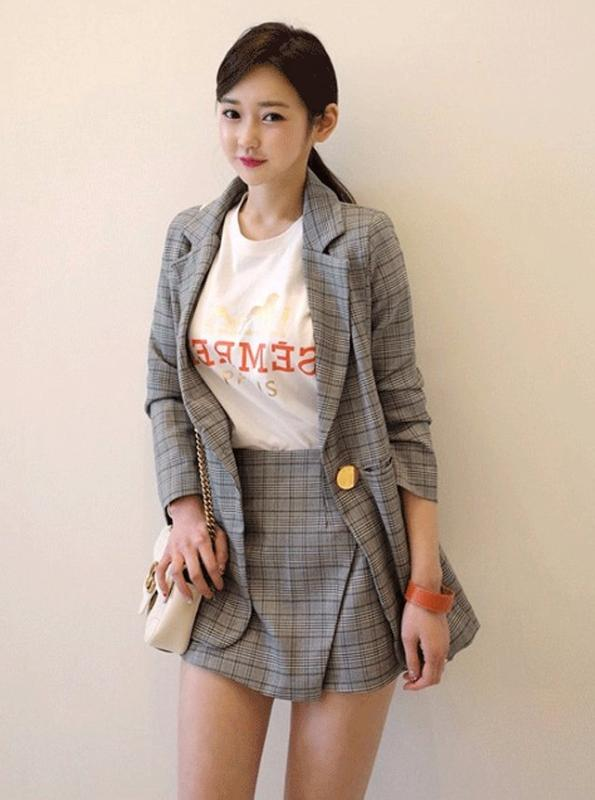 PLAID 2 PIECE SUITS WITH SHORTS - impaviid
