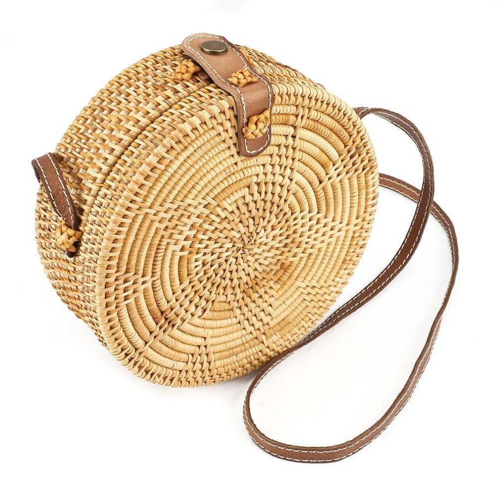 KIRASELINE SMALL STRAW BAG - IMPAVIID