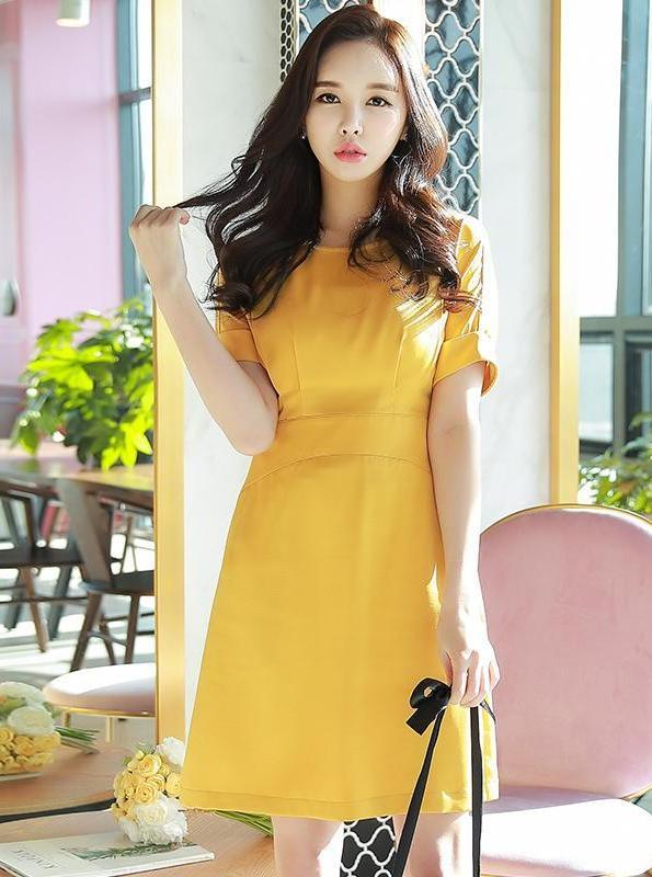 YELLOW OFFICE DRESS