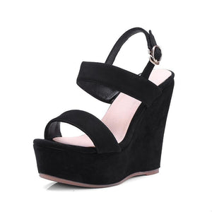 MUST SUEDE 90 INSPIRED WEDGED SANDALS CRUELTY-FREE - IMPAVIID