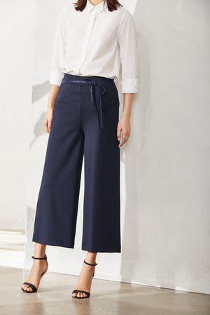 MINIMALISM WIDE LEGGED ANKLE LENGTH PANTS MULTIPLE COLORS