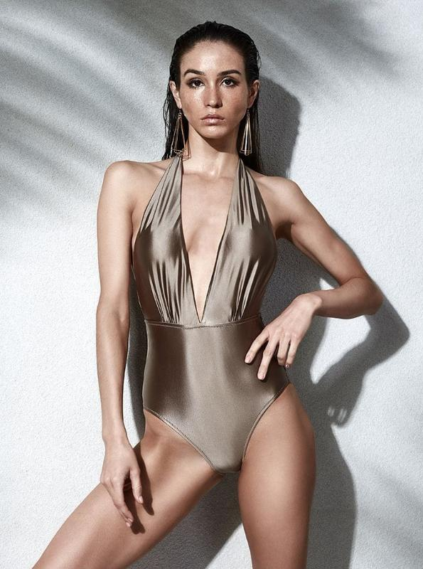 ONE PIECE VINTAGE DEEP CUT SWIMSUIT - impaviid