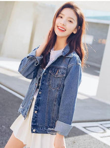 CASUAL OVERSIZED DENIM JACKET KOREAN DESIGN - IMPAVIID
