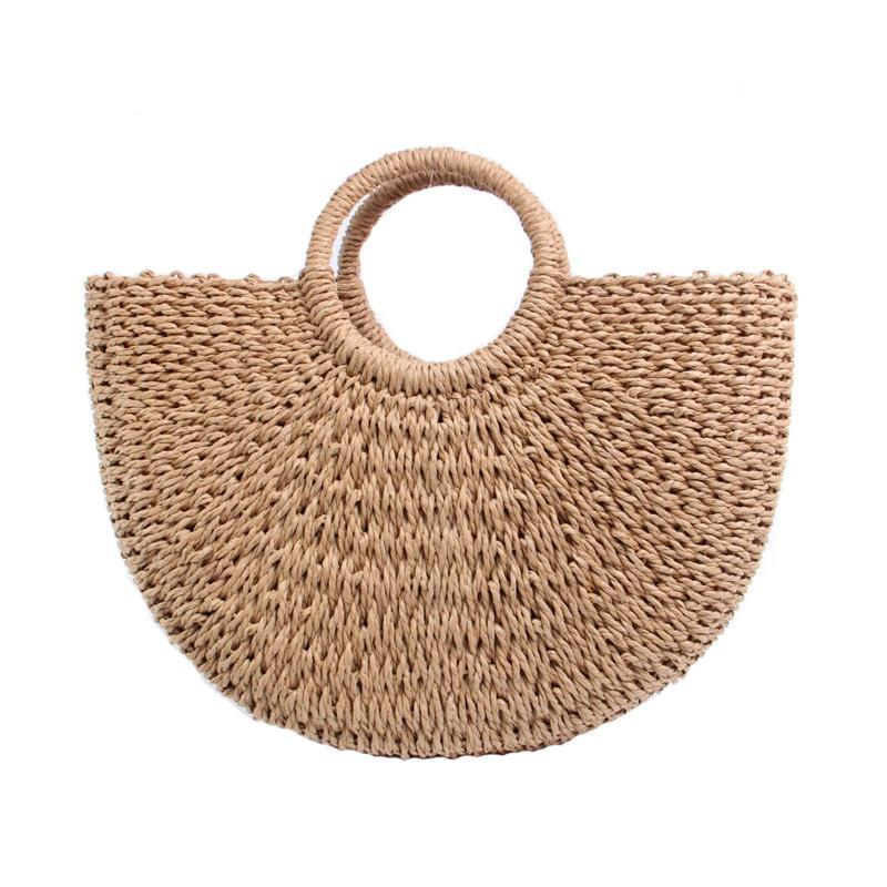 HALF MOON LONG STRAW BAG - impavid