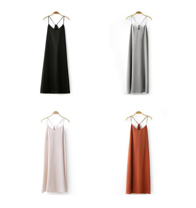 MINIMALISM MID-CALF CAMI DRESS - impaviid