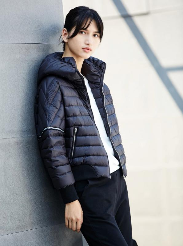 ZIPPED SHORT DOWN JACKET