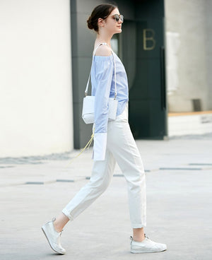 MINIMALISM WHITE JEANS LOOSE FIT