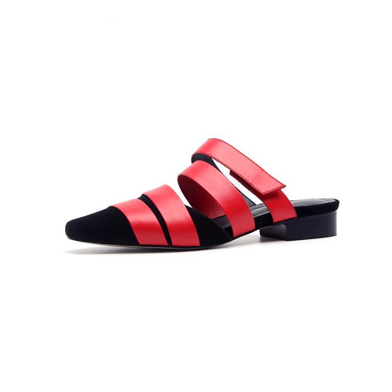 STRAPY FLAT MULES CRUELTY-FREE - імп