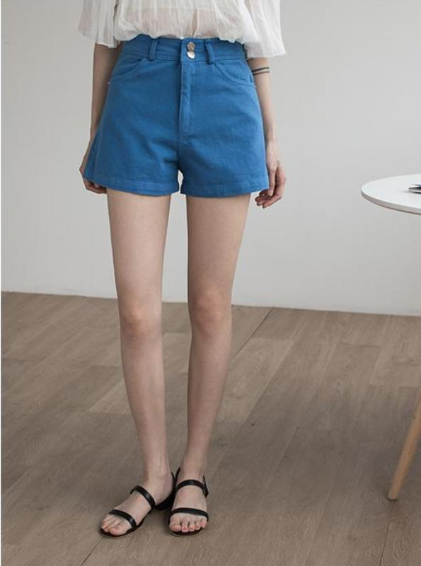 HIGH WAISTED WIDE LEGGED DENIM SHORTS KOREAN DESIGN - impaviid