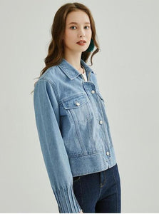 CASUAL LOOSE DENIM JACKET - IMPAVIID