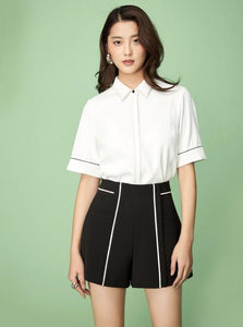 BLACK FORMAL SHORTS - IMPAVIID