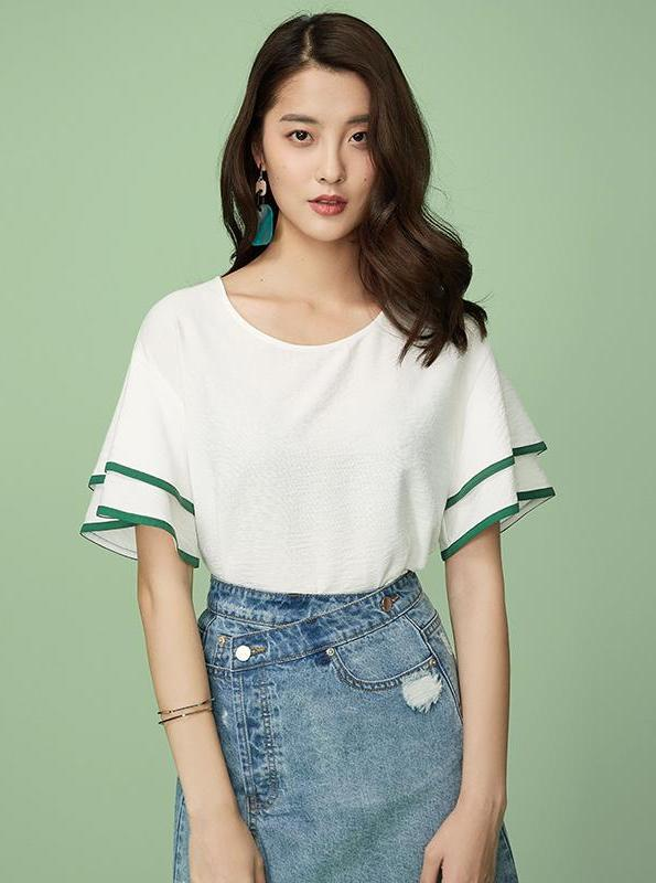 BUTTERFLY SLEEVE WHITE SUMMER TOP - IMPAVIID