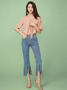 KROPPED FLARE JEANS - impaviid