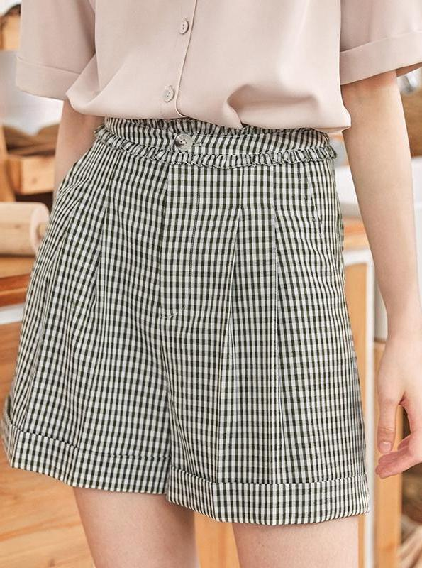 HIGH WAISTED WIDE LEG SHORTS KOREAN DESIGN - impaviid