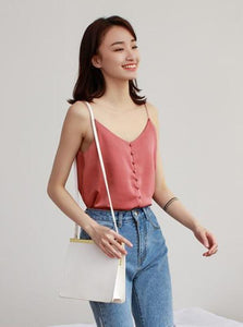 BUTTONED UP TANK TOP MULTIPLE COLORS KOREAN DESIGN - IMPAVIID