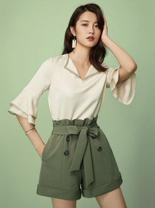 WIDE LEG SHORTS WITH BELT - impaviid