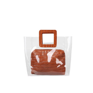 TRANSPARENT JELLY SQUARE BAG - impavid