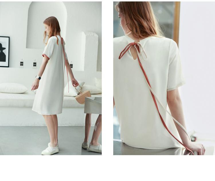MINIMALISM DOUBLE LAYERD MIDI DRESS - impaviid