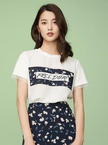 """FREEDOM"" FLORAL CASUAL T-SHIRT - IMPAVIID"