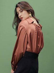 ASYMMETRICAL FORMAL BLOUSE - IMPAVIID