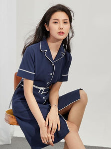 60 RETRO NAVY DRESS - IMPAVIID