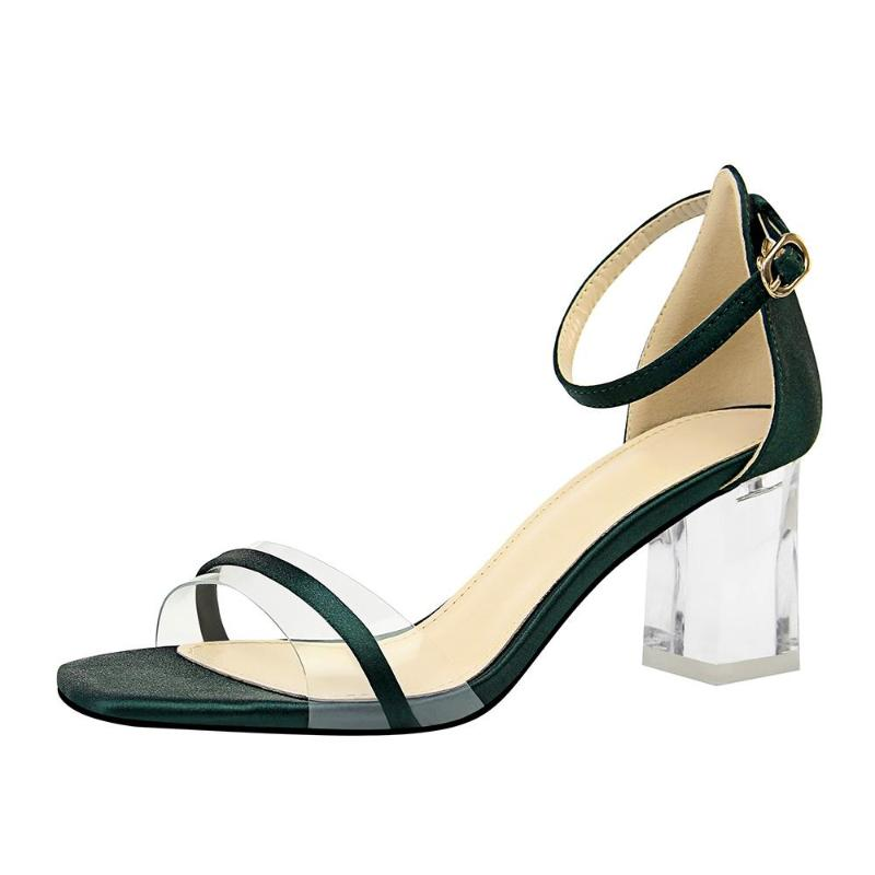 CLEAR KITTEN HEEL JELLY SANDALS CRUELTY-FREE - IMPAVIID