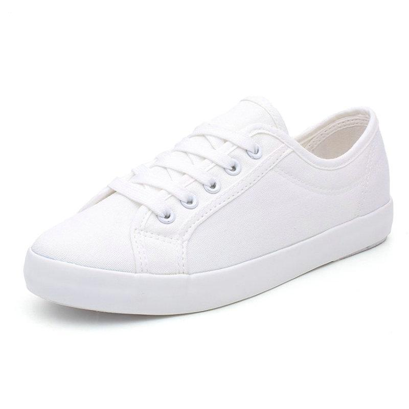 CLASSIC WHITE CANVAS SNEAKERS CRUELTY-FREE - IMPAVIID