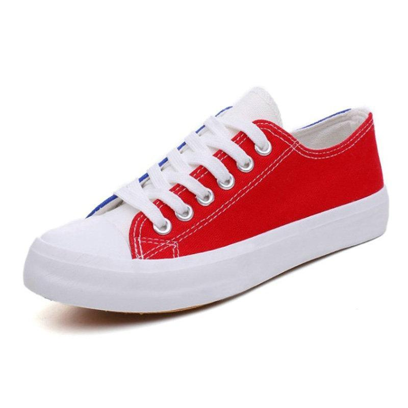TWO COLORED CASUAL CANVAS SNEAKERS CRUELTY-FREE - impaviid