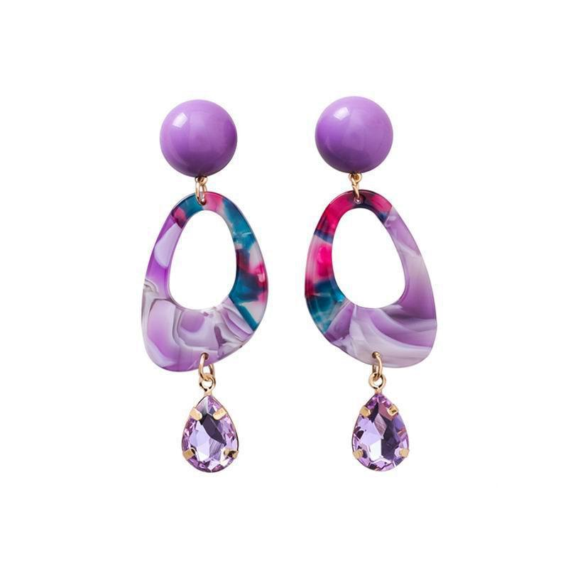 ACRYLIC WATERCOLOR ABSTRACT EARRINGS - IMPAVIID