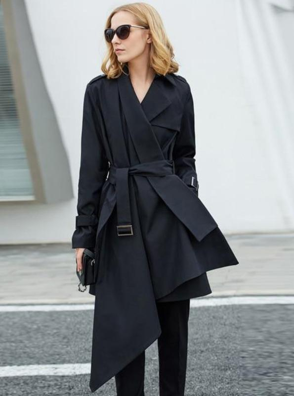 MINIMALISM ASYMMETRICAL TRENCH COAT